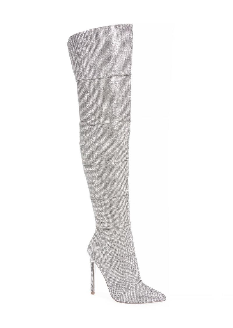 Steve Madden Wonder Crystal Embellished Over the Knee Boot (Women)