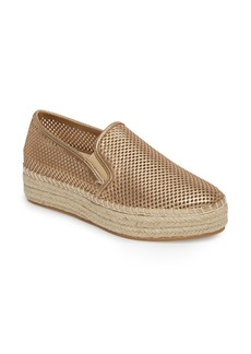 Steve Madden Wright Perforated Platform Espadrille (Women)