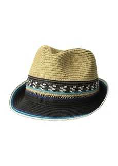 Steve Madden Striped Fedora