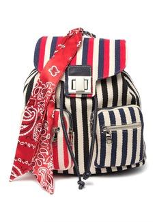 Steve Madden Tito Stripe Woven Backpack