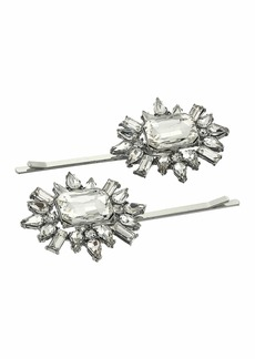Steve Madden Two-Piece Jeweled Floral Design Hair Pin