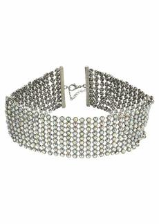 Steve Madden Wide Rhinestone Choker Necklace