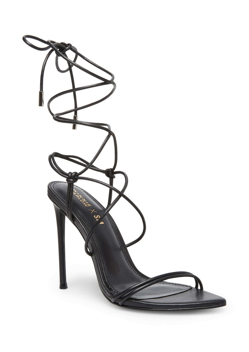 Winnie Harlow x Steve Madden Badgirl Ankle Wrap Stiletto Sandal (Women)