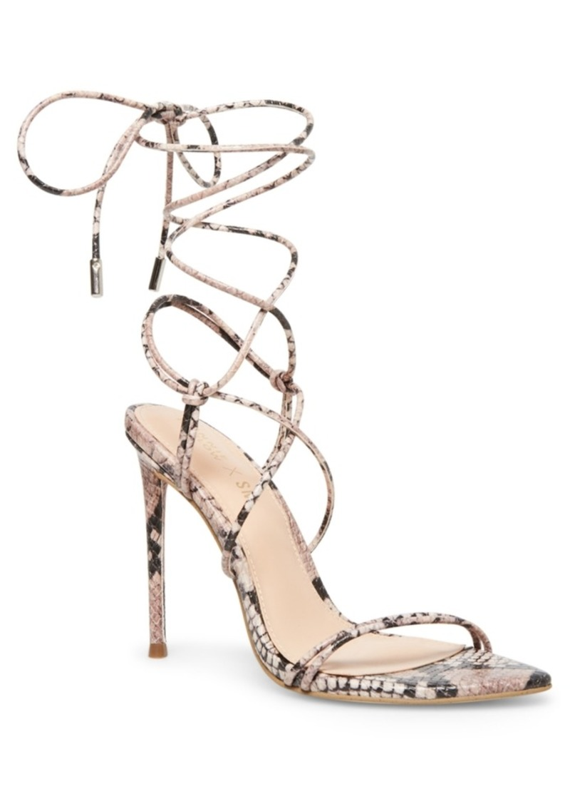 Winnie Harlow x Steve Madden Badgirl Tie-Up Stiletto Sandals