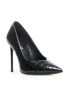 Winnie Harlow x Steve Madden Princess Reptile Embossed Pointed Toe Pump (Women)