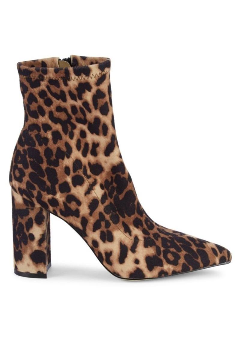 Steve Madden Winta Leopard-Print Sock Booties