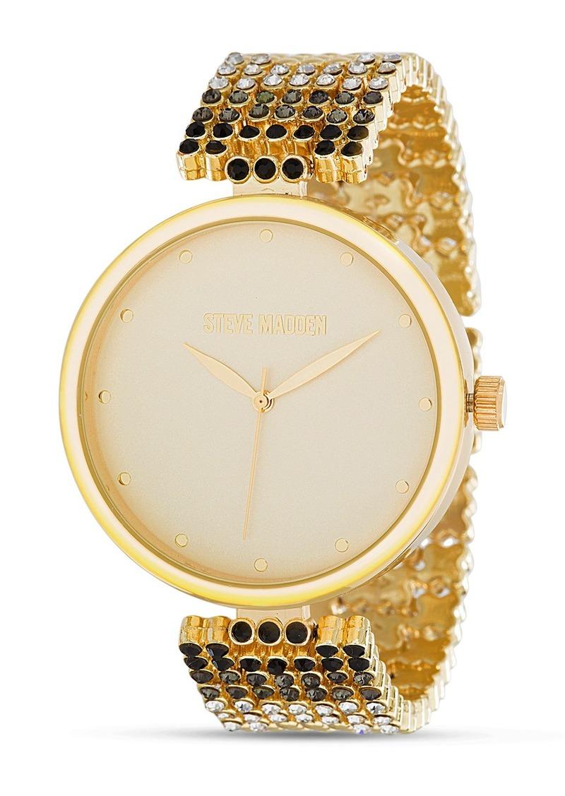 Steve Madden Women's Analog Mesh Bracelet Watch