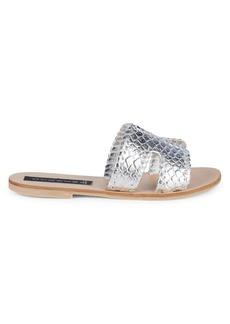 Steven by Steve Madden Greece Metallic Slide Sandals