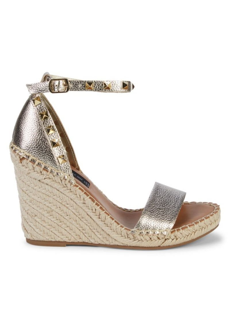 Steven by Steve Madden Kaye Faux-Leather Espadrilles