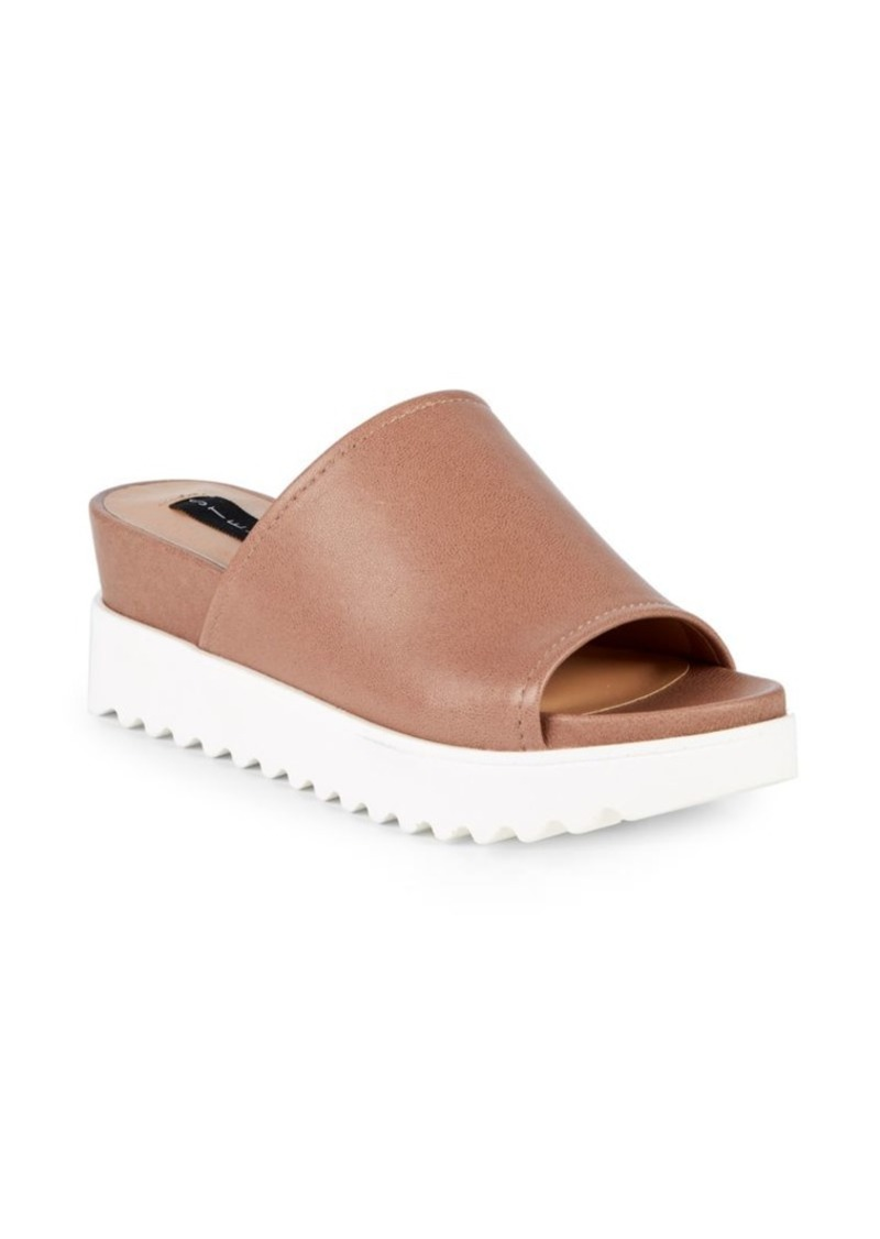 Steven by Steve Madden Kevin Leather Platform Slides