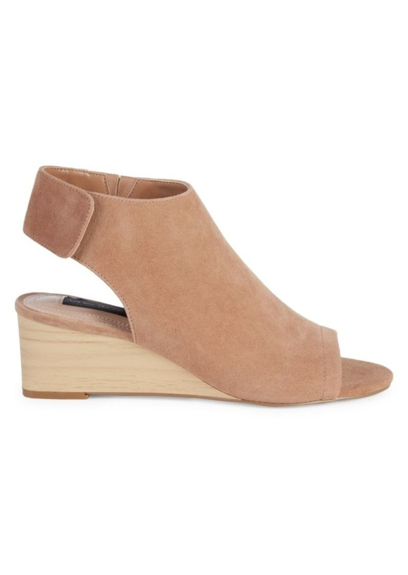 Steven by Steve Madden Ledger Wedge Peeptoe Booties