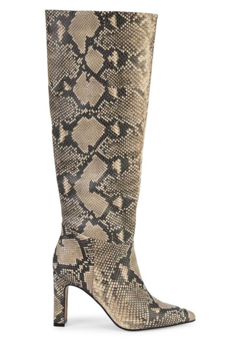 Steven by Steve Madden Snakeskin-Print Tall Boots