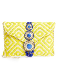 Steven by Steve Madden Beaded & Embroidered Clutch