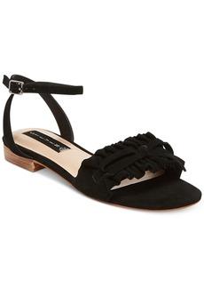 Steven by Steve Madden Cassiel Ankle-Strap Peep-Toe Flats Women's Shoes