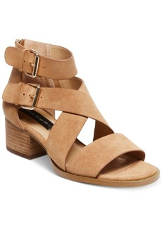 Steven By Steve Madden Elinda Strappy Block-Heel Sandals Women's Shoes