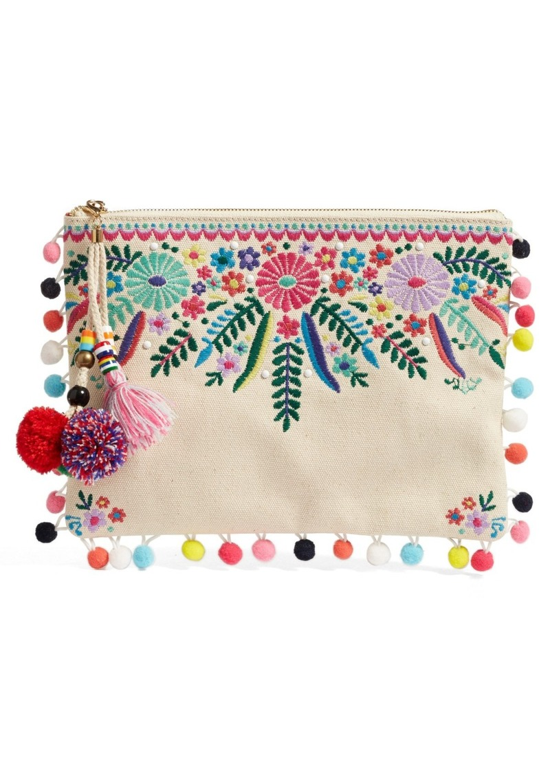 Steven By Steve Madden Embroidered Clutch