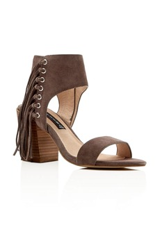 STEVEN BY STEVE MADDEN Fringe Check High Heel Sandals
