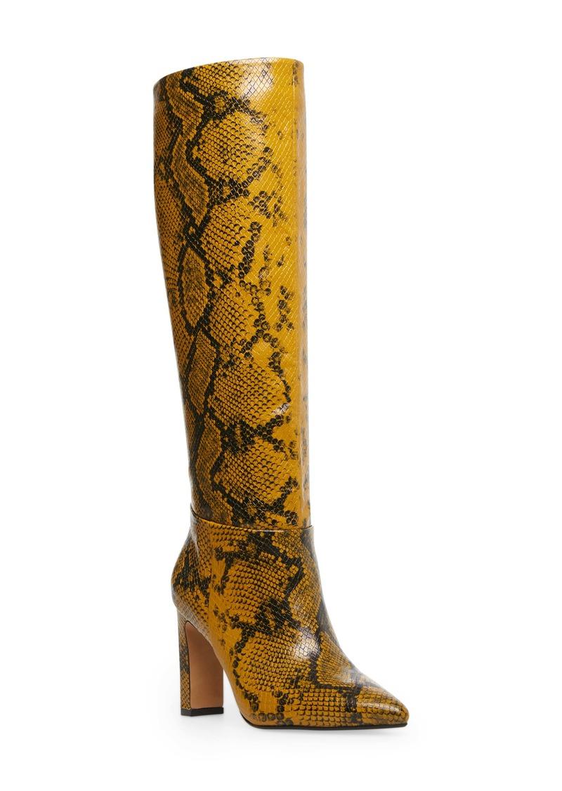 Steven by Steve Madden Joanis Animal Print Tall Boot (Women)