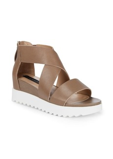Steven by Steve Madden Kade Leather Crisscross Sandals