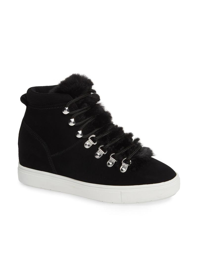 5a03c2092f2 Kalea-F Hidden Wedge Sneaker with Faux Fur Trim (Women)