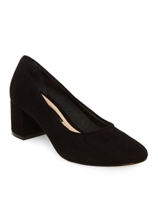 Steven by Steve Madden Tour Round-Toe Suede Pumps