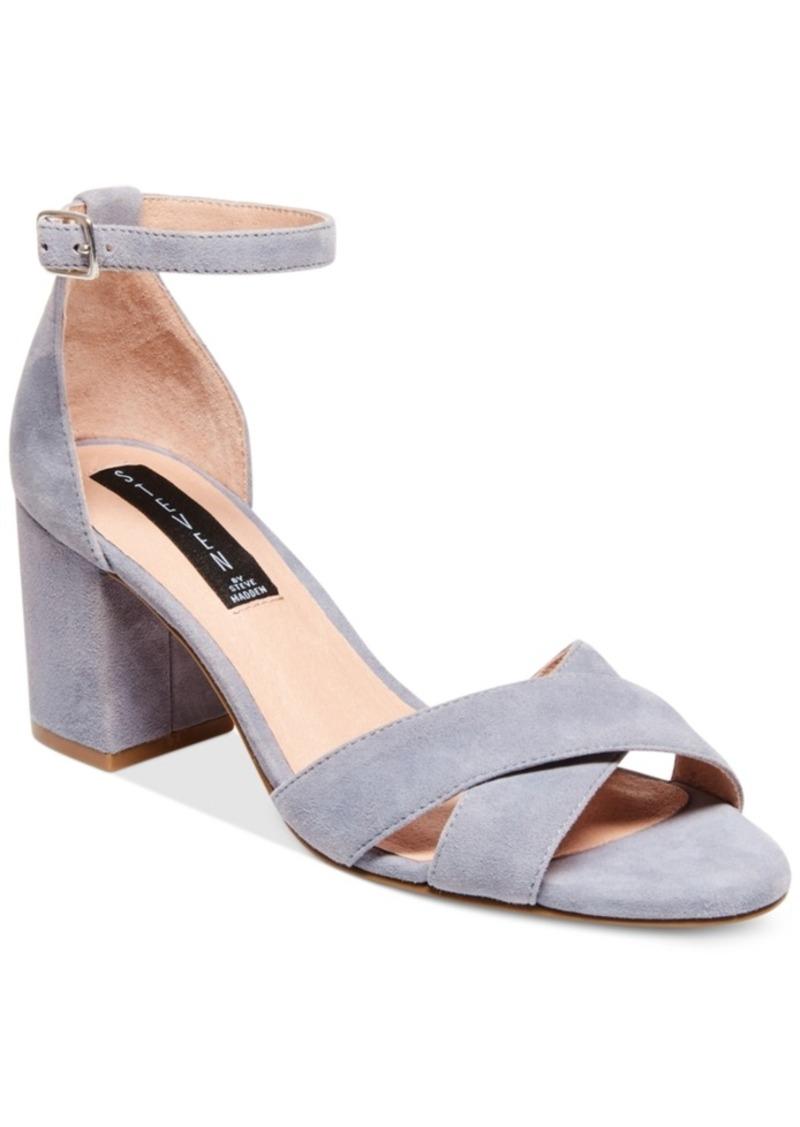 544849c7c1f Steven by Steve Madden Voomme Ankle-Strap Block Heel Dress Sandals Women s  Shoes