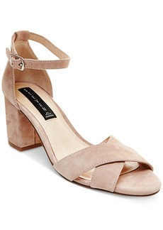 Steven by Steve Madden Voomme Ankle-Strap Block Heel Dress Sandals Women's Shoes