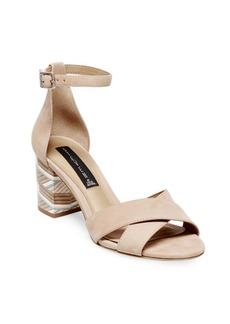Steven by Steve Madden Voomme Leather Stacked Heel Sandals