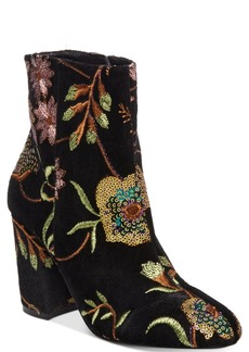 Steven by Steve Madden Women's Lissa Embroidered Booties