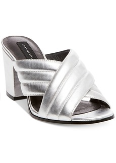 Steven By Steve Madden Women's Zada Slide-On Block-Heel Sandals Women's Shoes