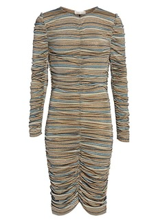 Stine Goya Aida Blake Metallic Stripe Dress