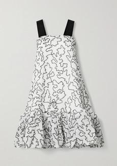 Stine Goya Anette Grosgrain-trimmed Organza And Lurex Dress
