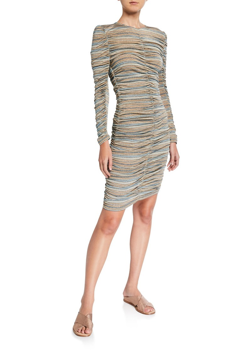Stine Goya Blake Shirred Stripe Dress
