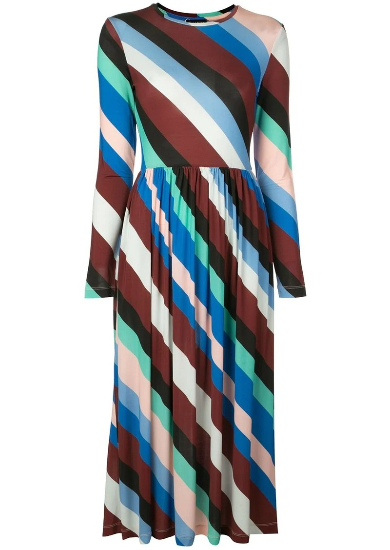 Stine Goya diagonal stripes dress