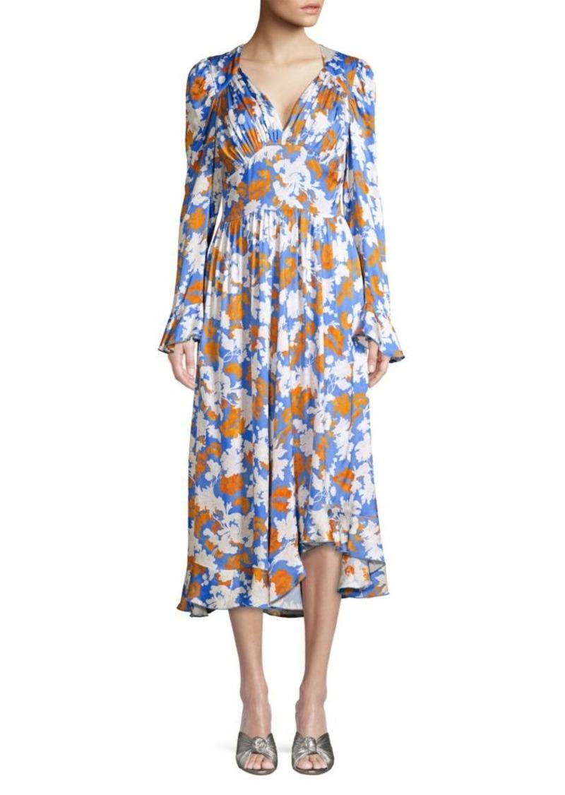 Stine Goya Freesia Wallpaper Print Dress