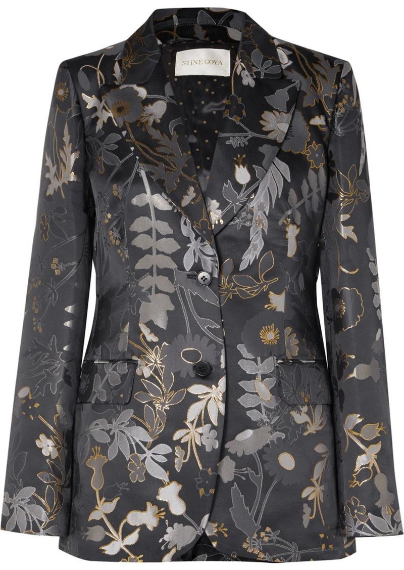 Stine Goya Iris Metallic Floral-jacquard Blazer