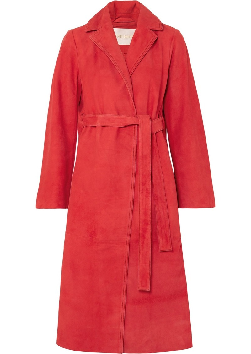 Stine Goya Luisa Belted Suede Coat