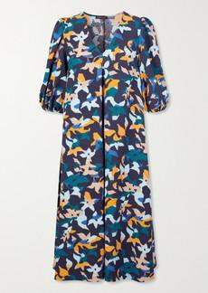 Stine Goya Net Sustain Mavelin Floral-print Cloqué Midi Dress