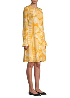 Stine Goya Page Silk Abstract Print Dress