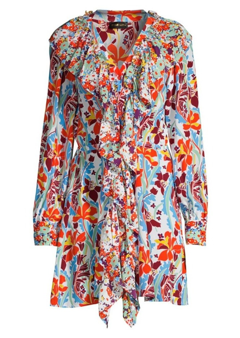 Stine Goya Skylar Floral Silk Mini Dress