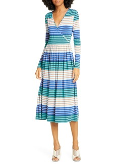 STINE GOYA Alina Long Sleeve Jersey Midi Dress