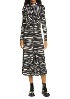 Stine Goya Asher Ruched Jersey Midi Dress