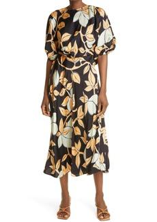 Stine Goya Aubrie Lemon Print Puff Sleeve Dress