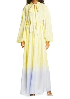 Stine Goya Avery Metallic Jacquard Long Sleeve Maxi Dress
