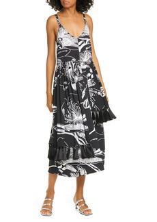 Stine Goya Basil Tassel Trim Midi Dress