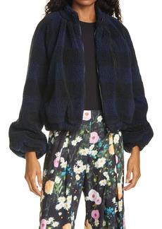 Stine Goya Bessie Buffalo Plaid Faux Shearling Jacket