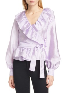 Stine Goya Carly Ruffle Wrap Blouse (Nordstrom Exclusive)