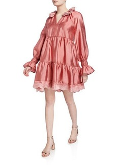 Stine Goya Daki Tiered Long-Sleeve Shift Dress