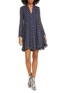 Stine Goya Elisabeth Fil Coupé Long Sleeve Silk Blend Dress
