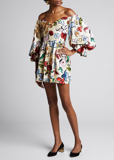 Stine Goya Evelina Sustainable Embellished Floral Dress